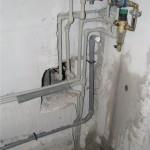 Новострой, Монтаж водопровода