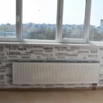 Водопровод + отопление новострой