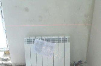 Монтаж биметаллического радиатора на трубах TECE в городе Харькове2