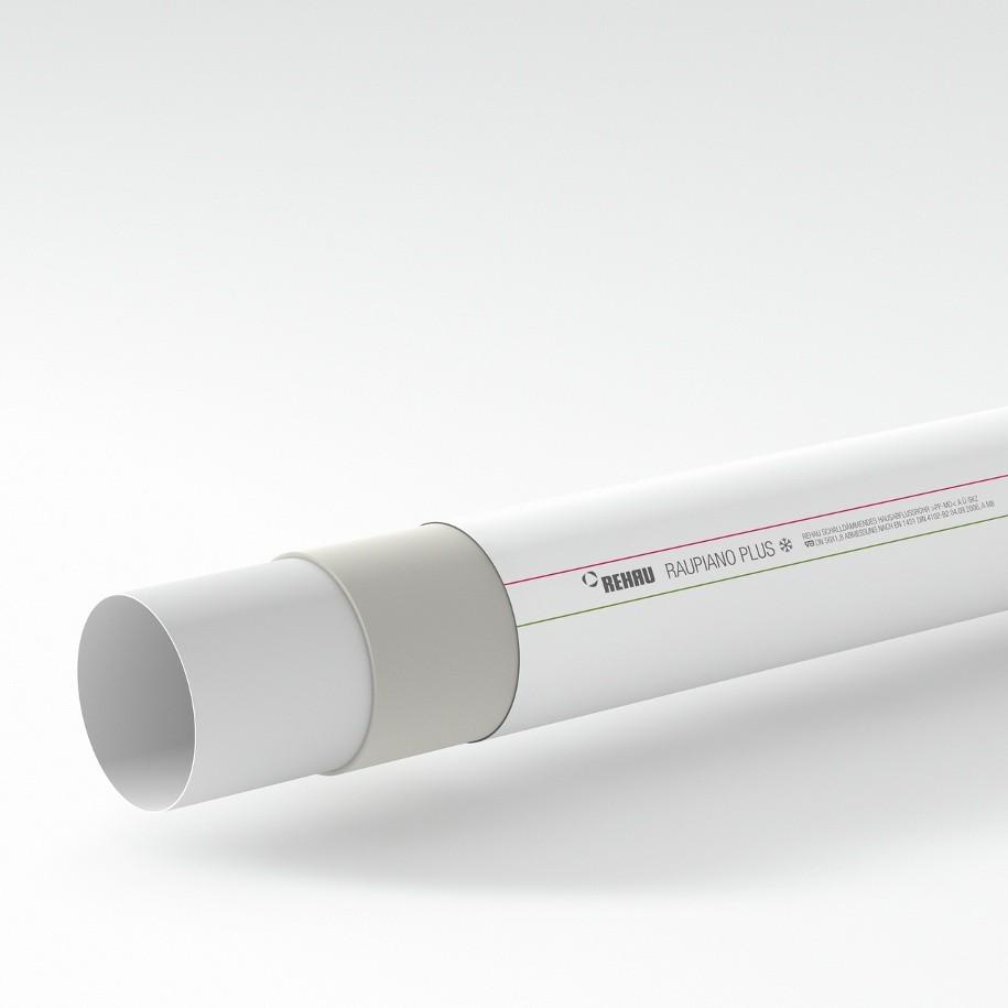 Канализационная труба RAUPIANO Plus состоит из нескольких слоев