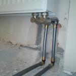перенос радиатора в нишу