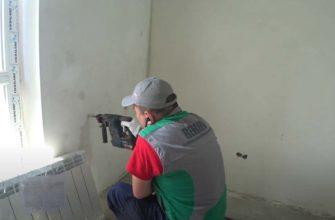 Монтаж биметаллического радиатора на трубах TECE в городе Харькове